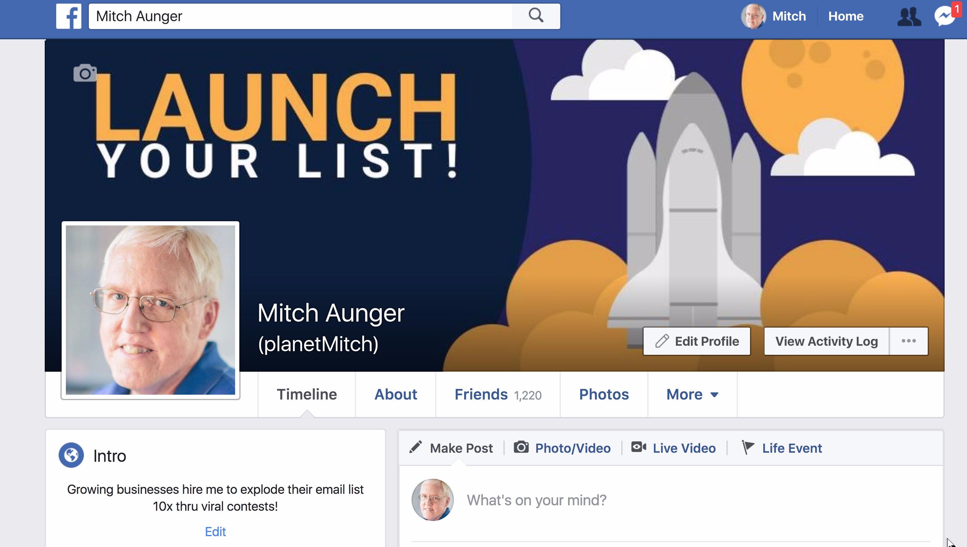 facebook profile updated